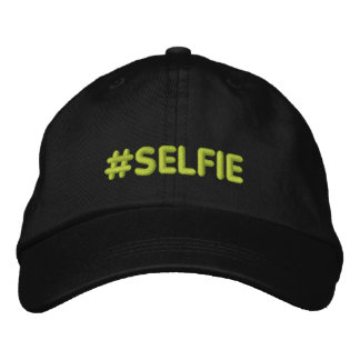 Hashtag Selfie Drooling Embroidered Hats