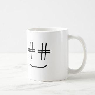 # Hashtag Smiley Face ANY COLOR Funny Social Media Basic White Mug