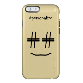 # Hashtag Smiley Face Social Media Personalized Incipio Feather® Shine iPhone 6 Case