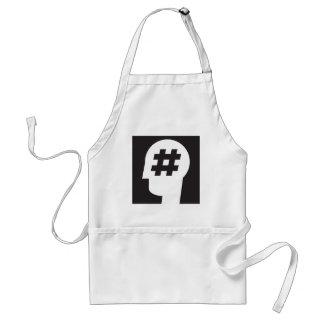hashtag stuck in a head standard apron