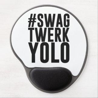 Hashtag Swag Twerk Yolo Gel Mouse Pad