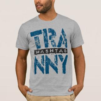 Hashtag TRANNY - Love Rebuilt Transmissions, Blue T-Shirt