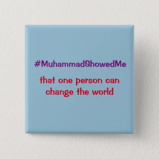 Hashtag Twitter Storm Muhammad Showed Me 15 Cm Square Badge