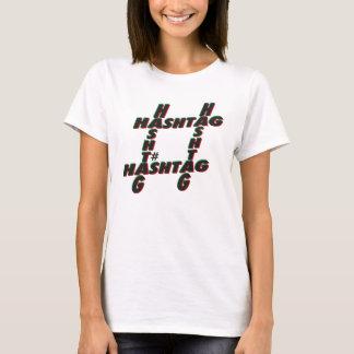 Hashtag typographic 3D T-Shirt