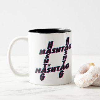 Hashtag typographic 3D Two-Tone Coffee Mug