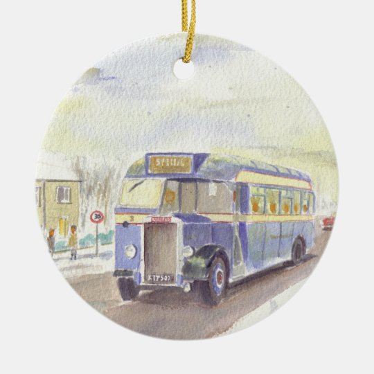 Haslingden Leyland Tiger Christmas ornament