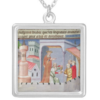 Hassan i Sabbah leading the initiations Silver Plated Necklace