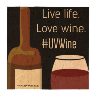 Hastag Collection: Live Life Love Wine Coasters
