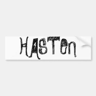 HASTEN Rock Out bumper sticker Car Bumper Sticker