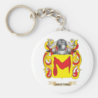 Hasting Coat of Arms (Family Crest) Basic Round Button Key Ring