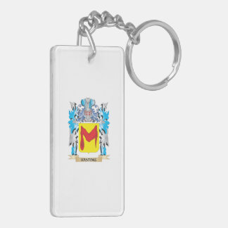 Hasting Coat of Arms - Family Crest Double-Sided Rectangular Acrylic Key Ring