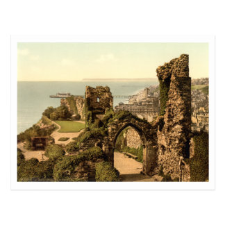 Hastings Castle, Hastings, Sussex, England Postcard
