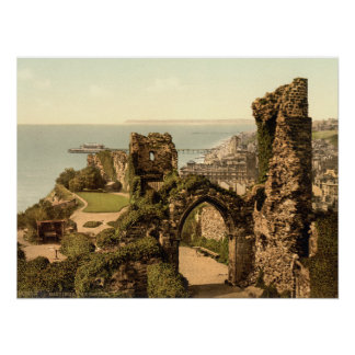 Hastings Castle, Hastings, Sussex, England Poster