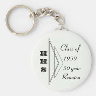 Hastings class of 1959 50 year reunion basic round button key ring