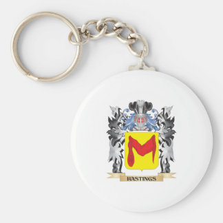 Hastings Coat of Arms - Family Crest Basic Round Button Key Ring