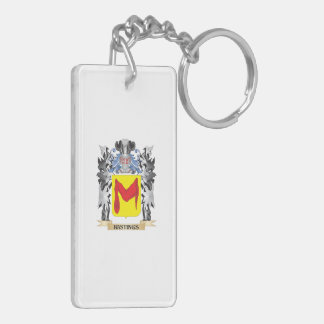 Hastings Coat of Arms - Family Crest Double-Sided Rectangular Acrylic Key Ring