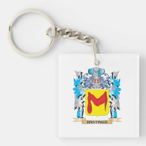 Hastings Coat of Arms - Family Crest Acrylic Keychain