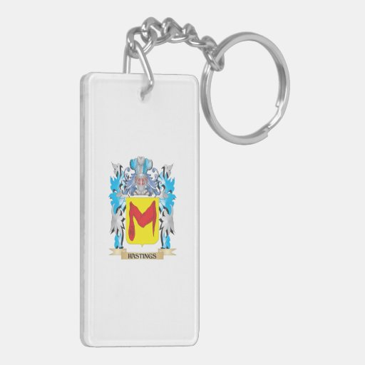 Hastings Coat of Arms - Family Crest Acrylic Key Chain