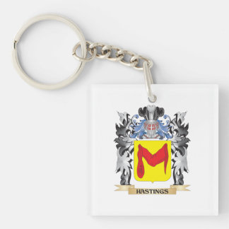 Hastings Coat of Arms - Family Crest Single-Sided Square Acrylic Key Ring