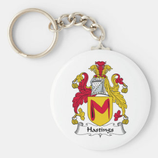 Hastings Family Crest Basic Round Button Key Ring