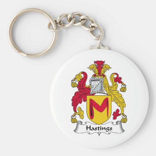 Hastings Family Crest Key Chain
