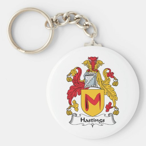 Hastings Family Crest Key Chains