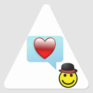 Hat and Heart Triangle Sticker
