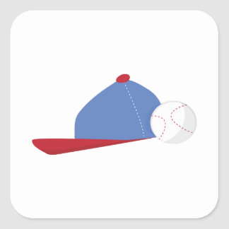 Hat & Ball Square Stickers