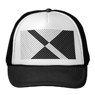 Hat Black and White Polka Dot