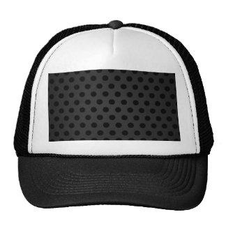 Hat Black Polka Dot