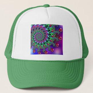 Hat - Bokeh Fractal Purple Terquoise