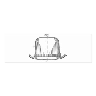 Hat Double-Sided Mini Business Cards (Pack Of 20)