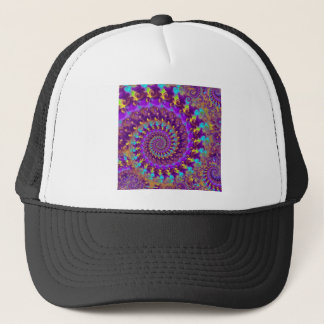 Hat - Crazy Fractal Purple terquoise yellow