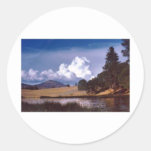 Hat Creek Round Stickers