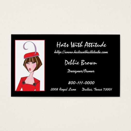 Hat Designer/ Millinery Business Cards
