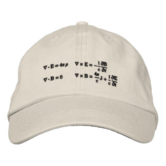 Hat, embroidered, Maxwell's equations Embroidered Baseball Cap