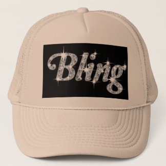 Hat featuring our faux diamond bling design