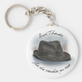 Hat for Leonard 1 Basic Round Button Key Ring