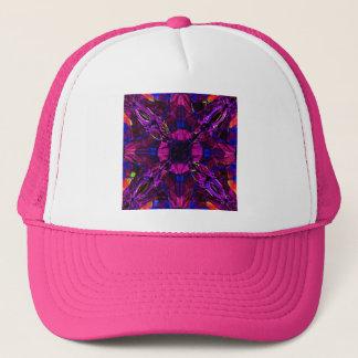 Hat - Fractal Pattern Purple Blue Pink