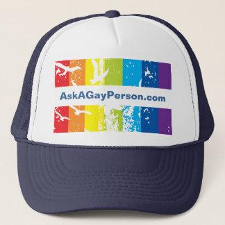 Hat- Gay Theme Template Trucker Hat