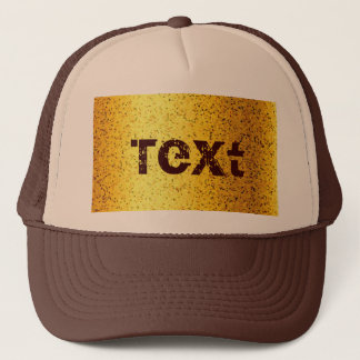 Hat Glitter Graphic Gold