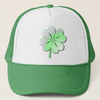 Hat glossy green quatrefoil, St. Patrick's
