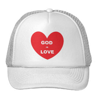 Hat God Is Love Red Heart