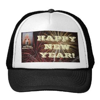 Hat Happy New Year Basset Hound King