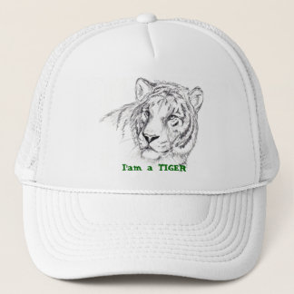 hat, I'am a TIGER Trucker Hat