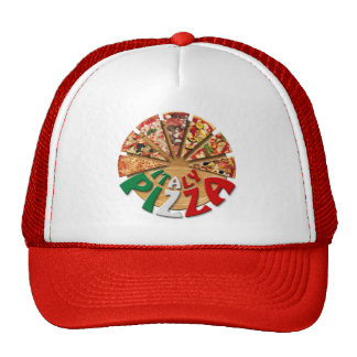Hat Italy Pizza on the cutting board