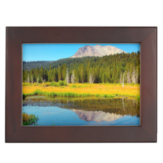 Hat Lake In Lassen Volcanic National Park Memory Boxes
