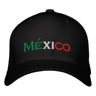 Hat Mexico lindo tri-color Embroidered Hats