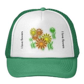 Hat - Neon flowers