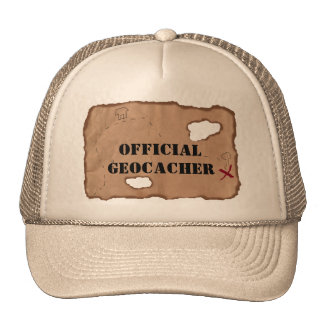 Hat: Official Geocacher on an Old Map